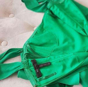 BCBG chiffon long green dress,  size 6